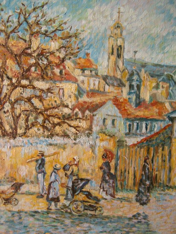 Giardino a Pointoise di C. Pissarro